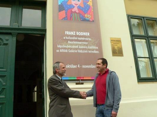 Dr. Nagy Imre múzeumigazgató fogadta Franz Bodner holland képzőművészt