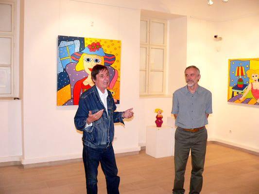 Pogány Gábor kurátor a rendezésről beszélt, Dr. Nagy Imre múzeumigazgató a holland-osztrák Franz Bodner alkotásait ismertette a sajtónak